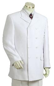 Fashionable White Zoot Suit