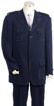 Luxurious 3 Button Navy