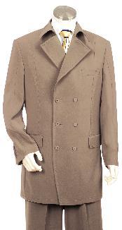 Fashionable Khaki Zoot Suit