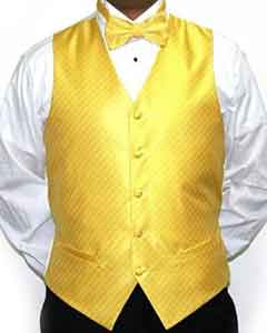 Yellow Four-piece Vest Set