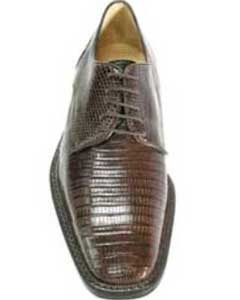 Mens Brown Genuine Lizard
