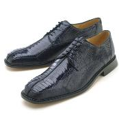Men's Navy Genuine Ostrich