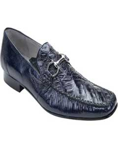 Mens Navy Genuine Crocodile