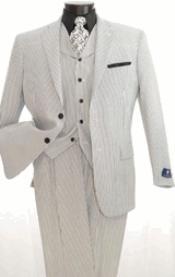 3 Piece Seersuckers Suit