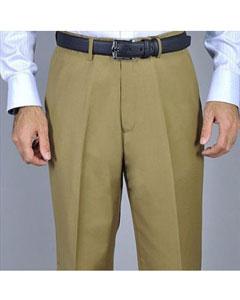 Camel Single Pleat Pants