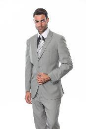 Button Silver Light Grey