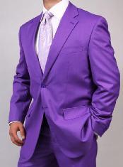 Two Button Purple Suit