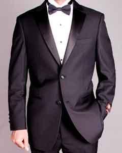 2-button Black Tuxedo $149