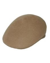 Beige English Cap Hat