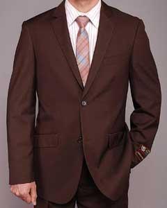 Brown 2-button Slim-fit Suit
