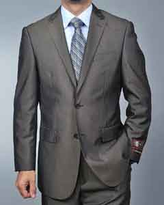 Brown Teakweave 2-button Suit
