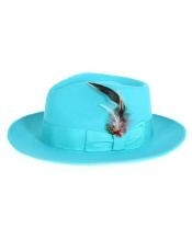 Cyan Fedora Hat