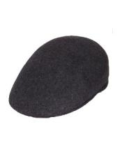 Dark Grey English Cap
