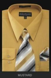 gold dress shirt