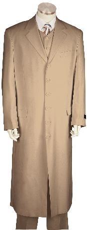 Fashionable Zoot Suit Khaki