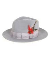 Gray Fedora Hat $49