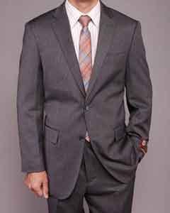 Gray Teakweave 2-button Suit