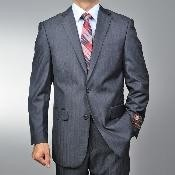 Grey Herringbone Tweed 2-button