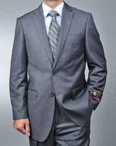 Grey Pinstripe 2-button Suit