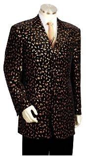 Long Zoot Suit Black/Gold