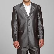 Shiny Grey 3-button Suit