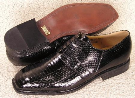 SKU#MU15522  Plain toe 4 eyelet blucher  genuine snake lace oxford features a soft snakeskin leather