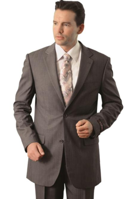 SKU#ZM8855 Trueran-Viscose Mens Grey Classic affordable suit online sale $109
