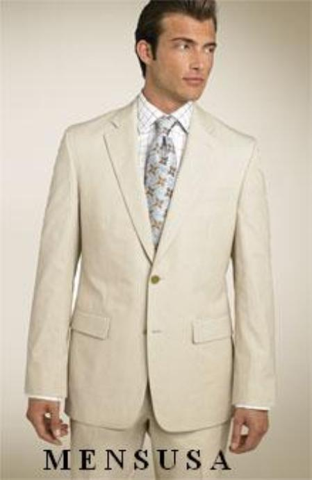 S81205 Two Button Brushed Twill Lightest Tan~Sand~khaki Super 150s Light Wool Suit $199