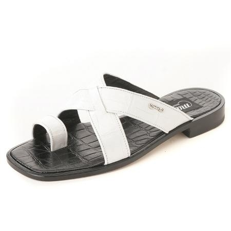 SKU#KX3000 White Genuine Baby Crocodile Sandal $410