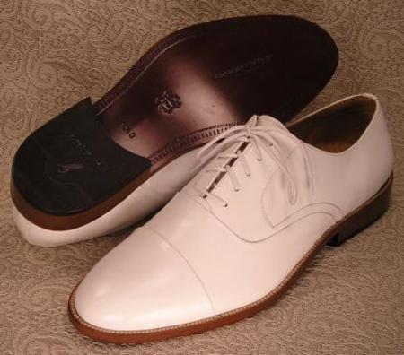 SKU# 24440 White Mens Dress Shoes $89