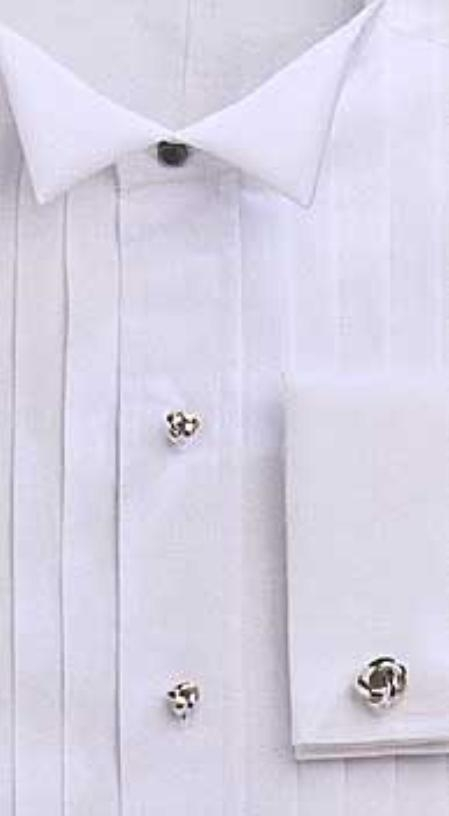 # 1802 GITMAN, exquisite TUX, 5-pleats, WING collar 100% Egyptian cotton, fine/soft $87