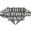 white diamond boots
