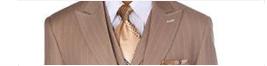 tan pinstripe suits
