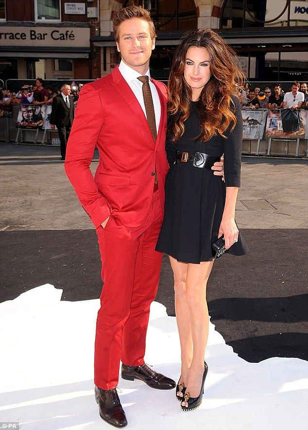 Red Suits - Armie Hammer in Red Suit at Red Carpet Event