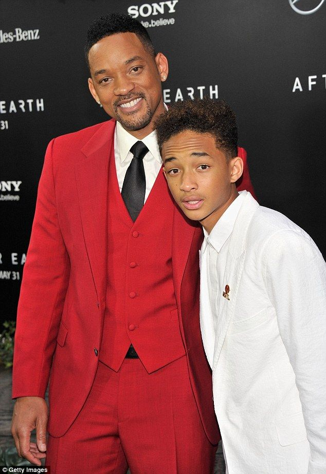 Red Suits - Will Smith in Red 3 Piece Suit at Premiere for Earth