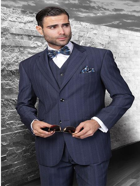 Mens 2-Button Suit in Blue Pinstripe. MensUSA Coupon Codes and Coupons - Shop Men's Suit Promo