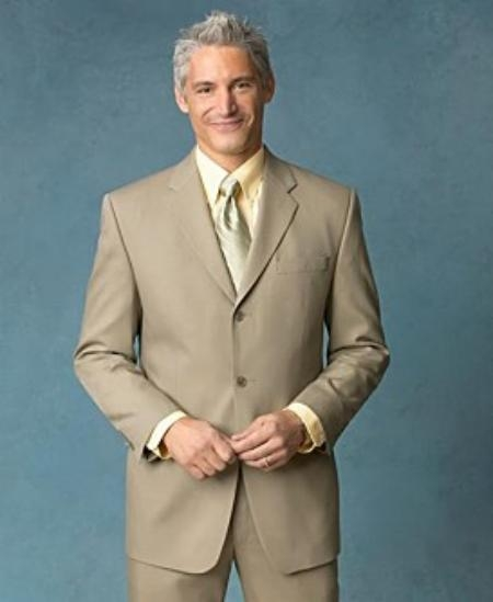 Mens 3-Button Suit in Tan. MensUSA Coupon Codes and Coupons - Shop Men's Suit Promo