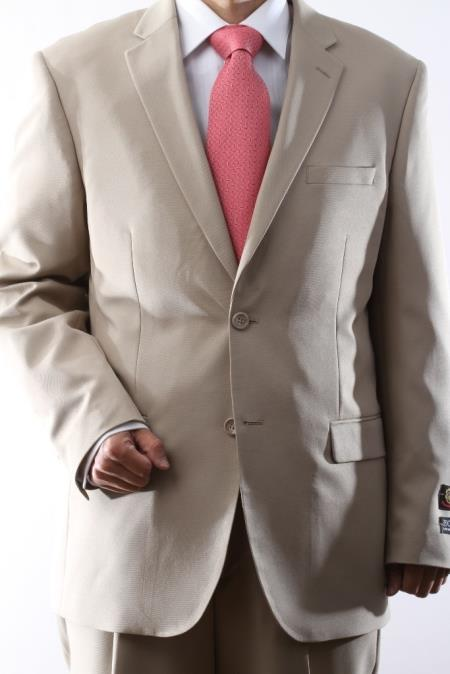 Mens 2-Button Suit in Beige. MensUSA Coupon Codes and Coupons - Shop Men's Suit Promo