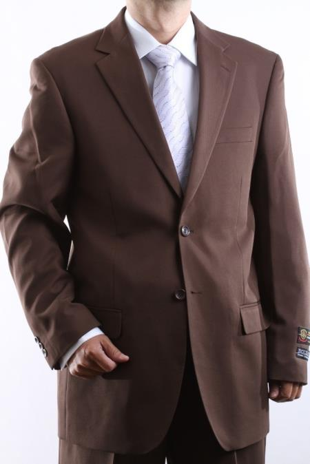 Mens 2-Button Suit in Brown. MensUSA Coupon Codes and Coupons - Shop Men's Suit Promo