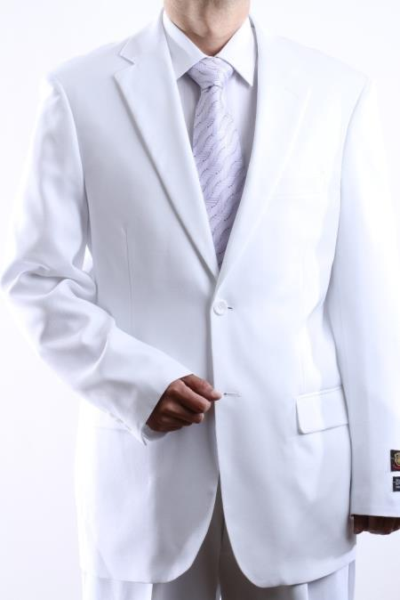 Mens 2-Button Suit in White. MensUSA Coupon Codes and Coupons - Shop Men's Suit Promo