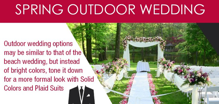 Spring Wedding Suit Ideas Infographic - Reviews by Suit Professionals