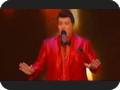 MensUSA.com Menswear Red Shiny Blazer on Jason Brock Believes He Can Fly - THE X FACTOR USA