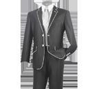 Charcoal gray tuxedo